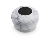 White Marble Waterproof Shower Speaker