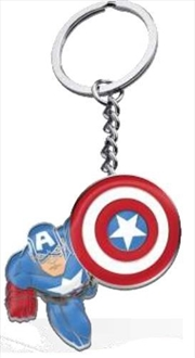 Captain America Keyring Metal