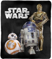 Star Wars Throw Rug C3PO, R2D2, BB8