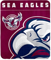 NRL Polar Fleece Blanket Manly Warringah Sea Eagles