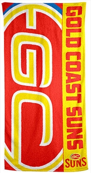 AFL Beach Towel Gold Coast Suns