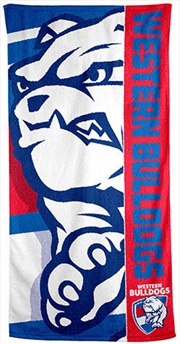 AFL Beach Towel Western Bulldogs