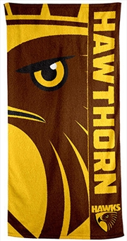 AFL Beach Towel Hawthorn Hawks | Apparel