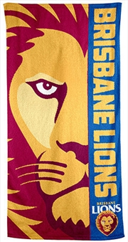 AFL Beach Towel Brisbane Lions