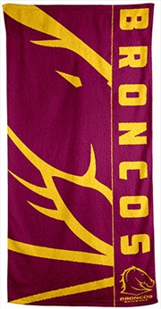 NRL Beach Towel Brisbane Broncos