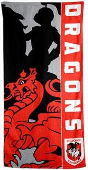 NRL Beach Towel St George Dragons