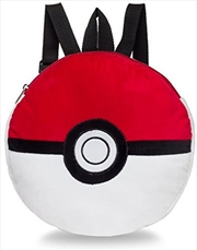 "Pokemon Backpack Plush Pokeball 15"""