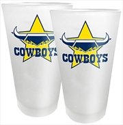 NRL Conical Glasses Set of 2 North Queensland Cowboys