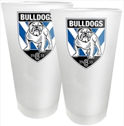 NRL Conical Glasses Set of 2 Canterbury-Bankstown Bulldogs
