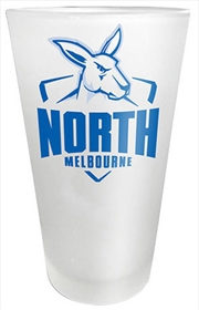 AFL Frosted Glass North Melbourne Kangaroos
