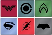 Justice League Movie Set of 6 Glass Coasters