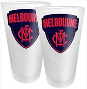 AFL Conical Glasses Set of 2 Melbourne Demons