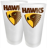 AFL Conical Glasses Set of 2 Hawthorn Hawks