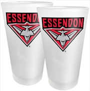 AFL Conical Glasses Set of 2 Essendon Bombers | Merchandise