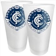AFL Conical Glasses Set of 2 Carlton Blues | Merchandise