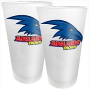 AFL Conical Glasses Set of 2 Adelaide Crows