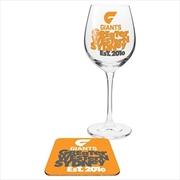 Greater Western Sydney Swans Giants (GWS) Wine & Coaster | Merchandise
