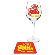 Gold Coast Suns Suns Wine & Coaster | Merchandise