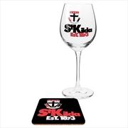 St Kilda Saints Wine & Coaster | Merchandise