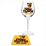 Hawthorn Hawks Wine & Coaster | Merchandise