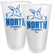 AFL Conical Glasses Set of 2 North Melbourne Kangaroos