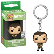 Fortnite - Highrise Assault Trooper Pocket Pop! Keychain