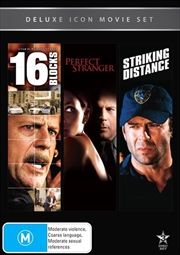 Movie Marathon - Bruce Willis - 16 Blocks / Perfect Stranger / Striking Distance | DVD