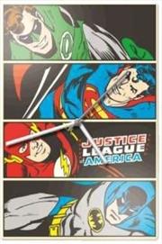 Justice League Glass Clock