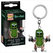 Rick and Morty - Pickle Rick in Rat Suit Pocket Pop! Keychain | Pop Vinyl