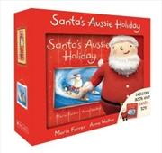 Santa's Aussie Holiday Mini Book + Plush | Paperback Book