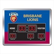 Brisbane Lions Scoreboard Clock | Accessories