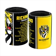 AFL Can Cooler Team Song Richmond Tigers | Accessories