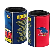 AFL Can Cooler Team Song Adelaide Crows | Accessories