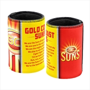 AFL Can Cooler Team Song Gold Coast Suns | Accessories