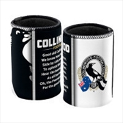 AFL Can Cooler Team Song Collingwood Magpies | Accessories