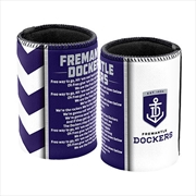 AFL Can Cooler Team Song Fremantle Dockers | Accessories