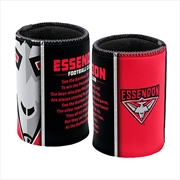 AFL Can Cooler Team Song Essendon Bombers | Accessories