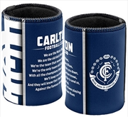 AFL Can Cooler Team Song Carlton Blues | Accessories