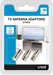 Coaxial TV Antenna Adaptors Pack Of 3