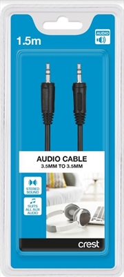 3.5mm To 3.5mm Audio Cable - 1.5M