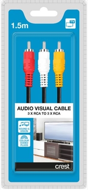 3 Rca Av Cable 1.5M - Audio Visual Cable