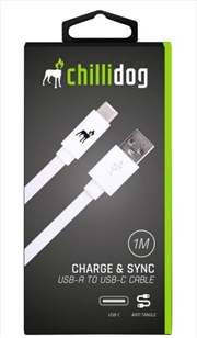 USB A to USB C Cable - White 1m