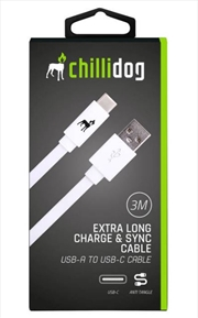 USB A to USB C Cable - White 3m