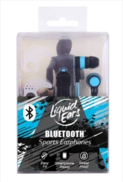 Liquid Ears - Sport Bluetooth Earphones - Black/Blue