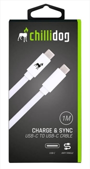 USB C to USB C Cable - White 1m