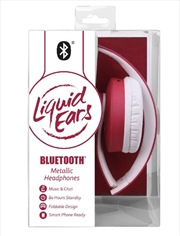 Liquid Ears - Bluetooth Smart Metallic Headphones Maroon