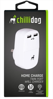 Twin Port USB Wall Charger - White
