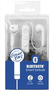Liquid Ears - Bluetooth Smart Earbud White