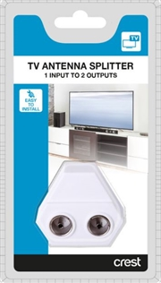 1 to 2 TV Antenna Splitter