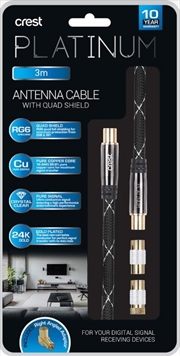 Antenna Cable With Quad Shield - 3M | Accessories